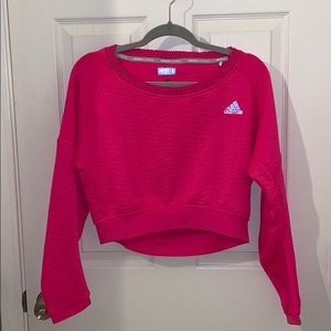 Cropped Adidas Workout Long Sleeve Shirt